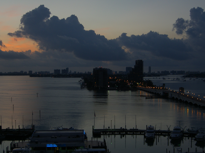 dawn over Biscayne