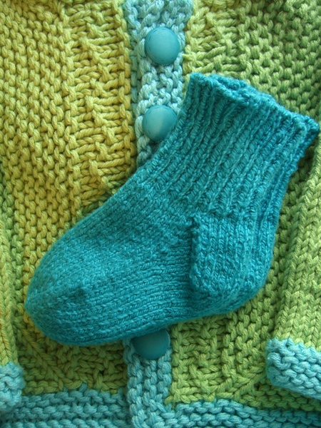 little blue baby socks