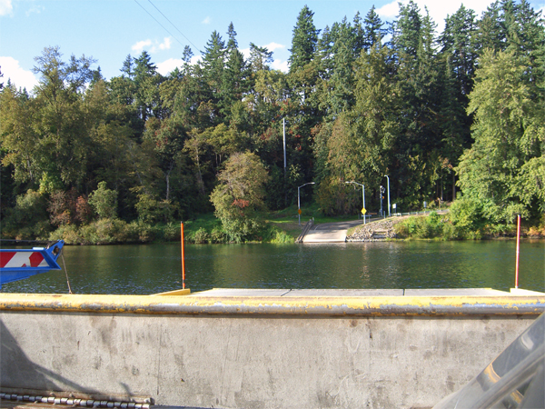 traveling on the Canby Ferry