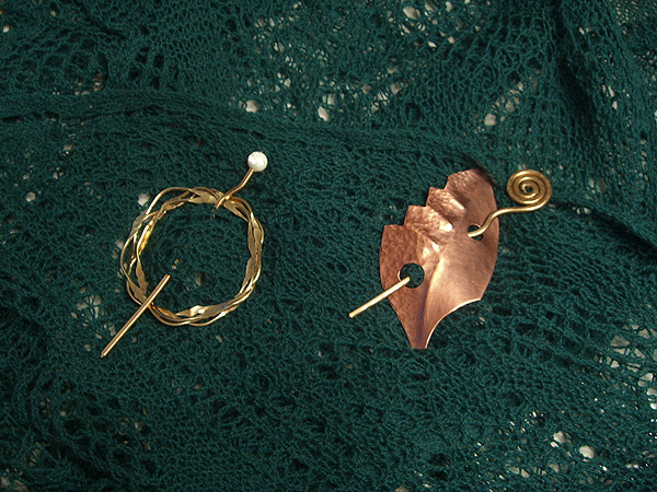 shawl pins from Yarn Overs