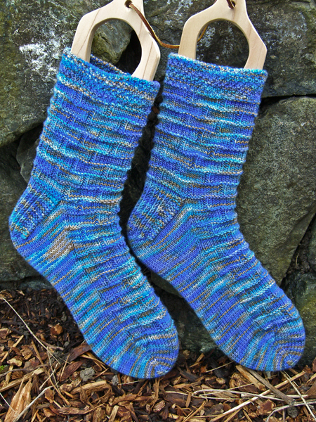 Blue Brick Wall socks