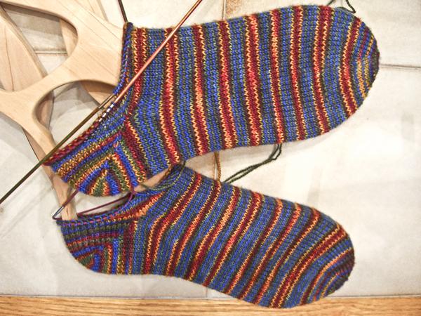 stripy feet