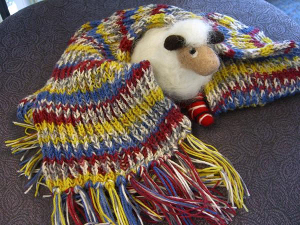brioche scarf for #1 Son