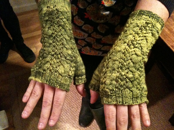 look! I knit something!