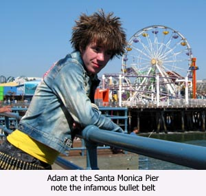 #1 Son wearing his bullet belt at Santa Monica Pier
