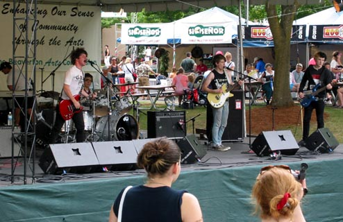 Autistic Youth compete in the Guitar Center Battle Of The Bands at Summerfest.