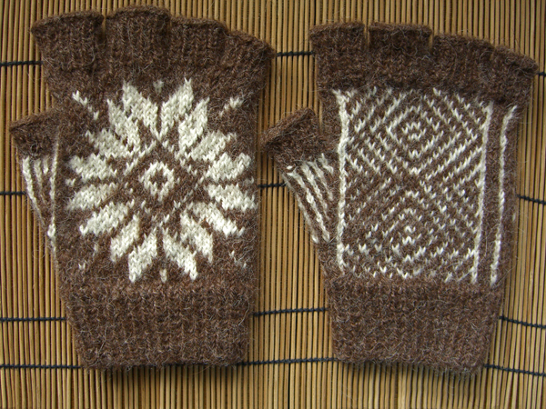 Fair Isle Fingerless Gloves for #1 Son