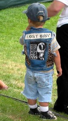 Seve's little brother Levi shows his support for the Lost Boys.