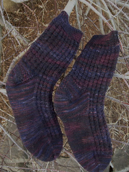 Mountain Blueberry Socks