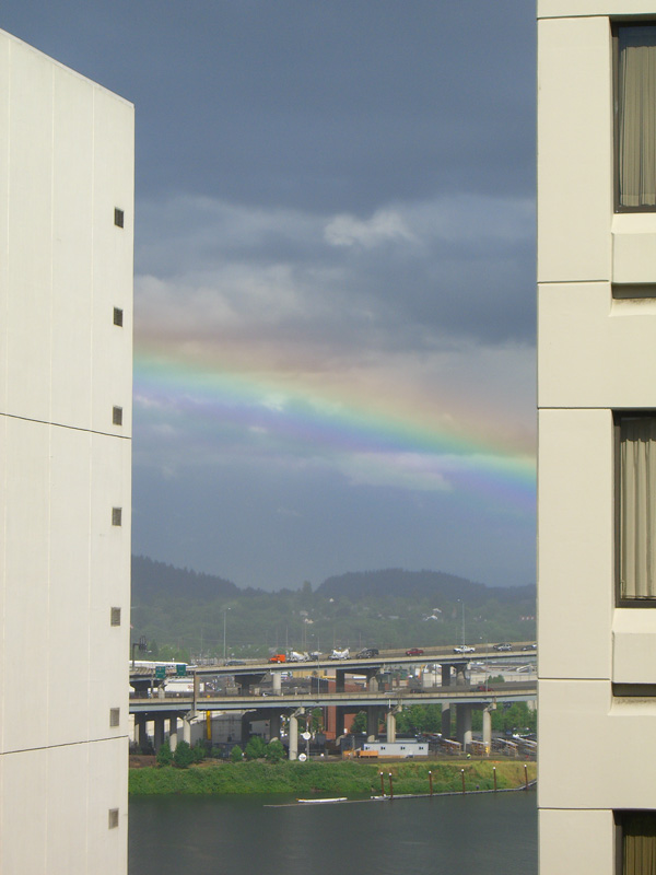 rainbow over Willamette