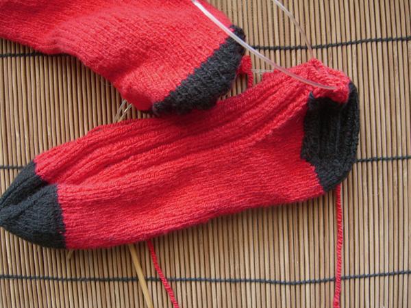 red Fixation socks