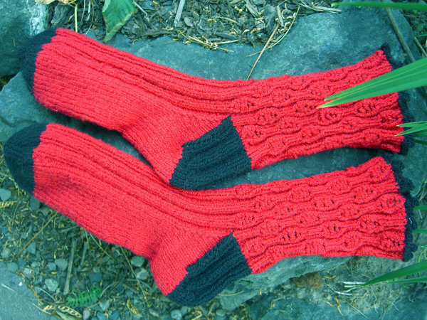 red and black Fixation socks